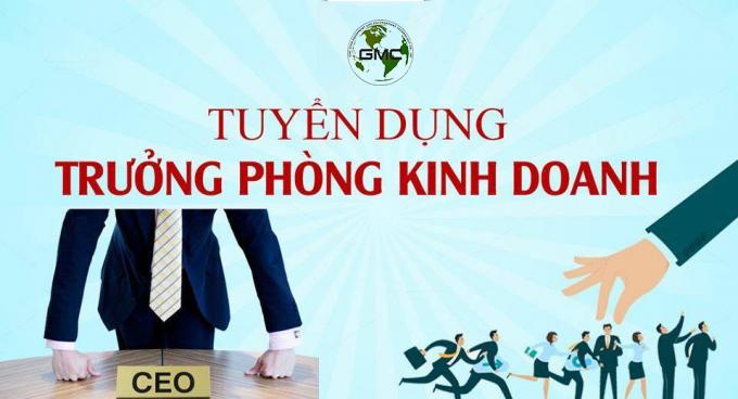 Tuyển Trưởng Phòng Kinh Doanh Tại Hà Nội